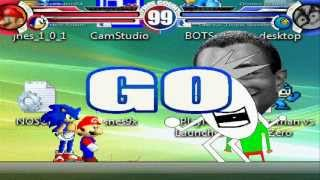 getlinkyoutube.com-Super Mario 64 & Neo Sonic vs Dooby Dummy & Omega Tiger Woods MUGEN Battle!!!