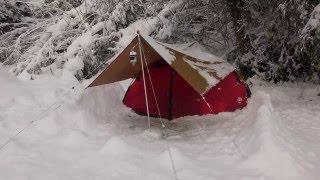 getlinkyoutube.com-裏山で雪中ソロキャンプ  Solo winter camping