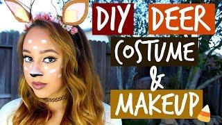 getlinkyoutube.com-DIY DEER COSTUME & MAKEUP (Halloween) - HowToByJordan