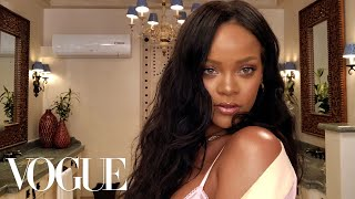 Rihanna's Epic 10-Minute Guide to Going Out Makeup | Beauty Secrets | Vogue width=