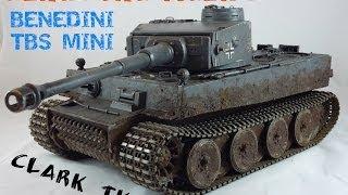 getlinkyoutube.com-Clark Model TK22 & Benedini TBS Mini Metal Tiger 1 RC Tank - Heng Long