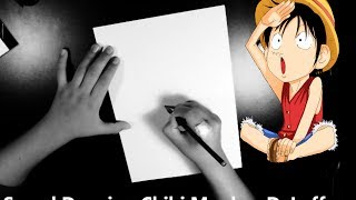 getlinkyoutube.com-Speed Drawing - Chibi Monkey D. Luffy - One Piece