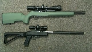 "getlinkyoutube.com-Ruger 10/22 .22lr Boyd's ""Tacticool"" Demo 16"" .22 short twist rate, .22lr chambering."