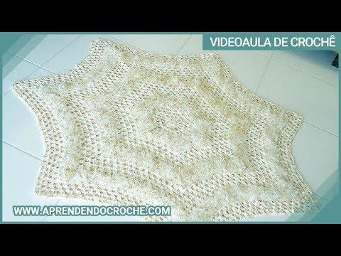 Tapete de Croche Barroco para Sala ou Quarto - Aprendendo Crochê