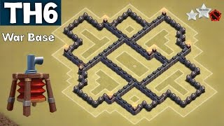 getlinkyoutube.com-BEST Town Hall 6 (TH6) Clan Wars/Trophy Base Defense | With Air Sweeper | Clash of Clans