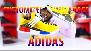 getlinkyoutube.com-CUSTOMIZED HUMAN RACE NMD 800$ ADIDAS SNEAKER