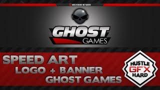 getlinkyoutube.com-Speed Art - Logo + Banner Ghost Games
