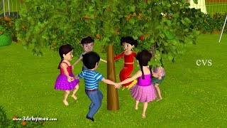getlinkyoutube.com-Here We Go Round The Mulberry Bush - 3D Animation Nursery Rhymes for Children