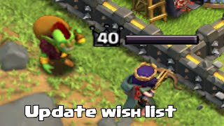 getlinkyoutube.com-Clash of clans - GOBLIN KING!?! (October Update wishlist)