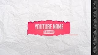 Free-To-Use Channel Art Template - Torn