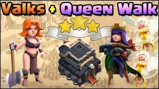 getlinkyoutube.com-Valkyrie + Archer Queen walk TH9 War Attack Strategy! Clash of Clans - Live TH9 War Attacks