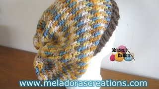 getlinkyoutube.com-Thick Mesh Slouch Hat - Revised Edition - Crochet Tutorial