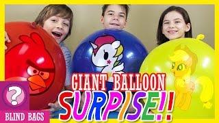 getlinkyoutube.com-GIANT BALLOON SURPRISE! Blind Bag Ep22   Angry Birds, Tokidoki, My Little Pony!   KITTIESMAMA