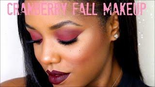 getlinkyoutube.com-Cranberry Eyes Dark Lips | Fall Makeup Tutorial | Ellarie