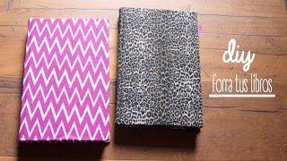 getlinkyoutube.com-DIY: Cómo decorar tus libros con tela:)