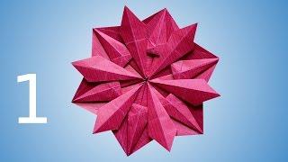 getlinkyoutube.com-Origami Snowflake (Dáša Ševerová) part 1
