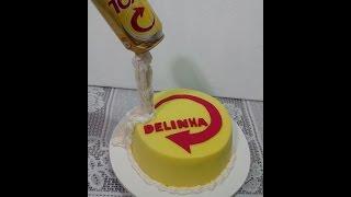 getlinkyoutube.com-Como fazer bolo da skol ( Decoração)