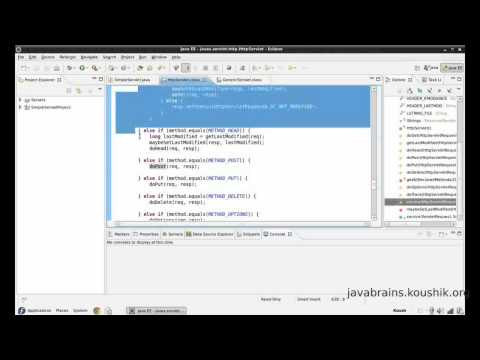 JSPs and Servlets Tutorial 09 Part 2- Understanding init, service and ServletConfig