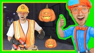 getlinkyoutube.com-Halloween Songs for Kids with Blippi | Trick or Treat Nursery Rhyme