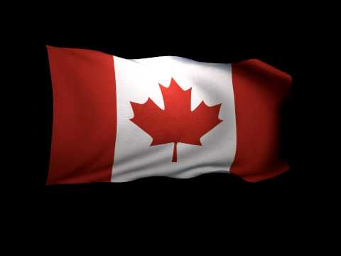 3D Rendering of the flag of Canada waving in the wind.
