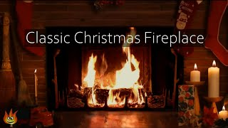 getlinkyoutube.com-🎅Cozy Christmas Yule Log Fireplace with Crackling Fire Sounds (Long Version)