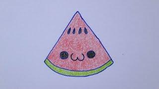 getlinkyoutube.com-Como desenhar uma melancia muito fofa