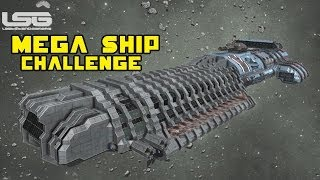 getlinkyoutube.com-Space Engineers - Mega Ship, Half Off (Back) Massive Battle Cannon