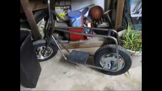 Kit Mini Bike 2, The boy gets his hands dirty, paint, and a rolling chassis