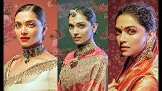 Deepika Padukone Hot Photoshoot For Sabyasachi Saree