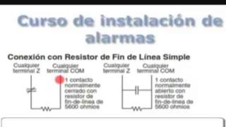 getlinkyoutube.com-Conexiones de reistencias de Final de linea en alarmas