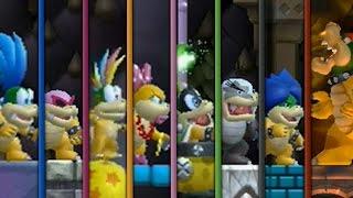 New Super Mario Bros Wii - All Castles (Koopaling Battles)