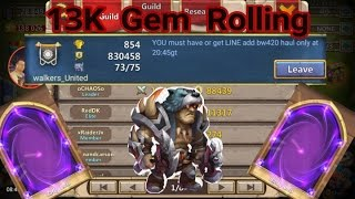getlinkyoutube.com-13K Gem Rolling and Opening up Warehouse Items Castle Clash