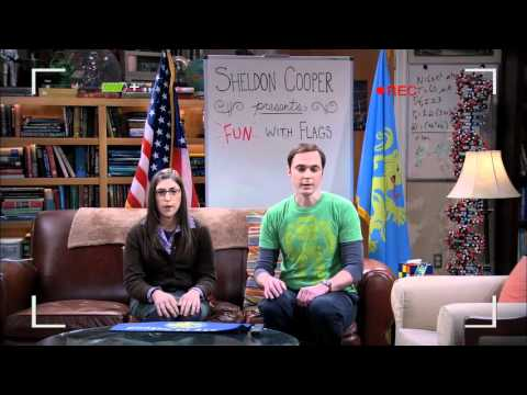 TBBT - The Beta Test Initiation Opening - Sheldon Cooper Presents Fun With Flags
