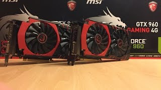 MSI GTX 960 4G vs MSI GTX 960 4G SLI GTA V Performance