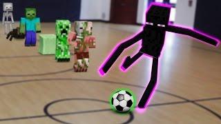 getlinkyoutube.com-Monster School in Real Life Episode 4: Soccer - Minecraft Animation