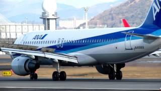 getlinkyoutube.com-JA8393 ANA A320 LD--これは珍しい!逆噴射無し。