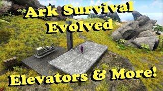 getlinkyoutube.com-Ark Survival Evolved - Elevators & Ballista Turrets!