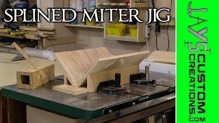 getlinkyoutube.com-Splined Miter Jig For The Table Saw