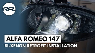 getlinkyoutube.com-Alfa Romeo 147 Bi Xenon projector Mini H1 retrofit installation process