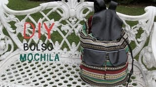 getlinkyoutube.com-DIY Cómo hacer un bolso Mochila tipo étnico :D