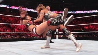 getlinkyoutube.com-CM Punk & AJ vs. Daniel Bryan & Eve: Raw, July 9, 2012