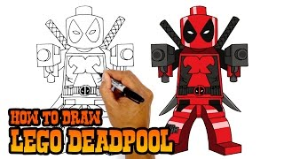 getlinkyoutube.com-How to Draw Lego Deadpool- Art Lesson for Kids