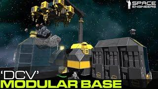 getlinkyoutube.com-Space Engineers - 'DCV' Modular Deployable Base Concept