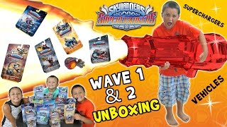 getlinkyoutube.com-Skylanders SuperChargers Cannon Launcher Fail!  Wave 1 & 2 Toys Unboxing Race Fun