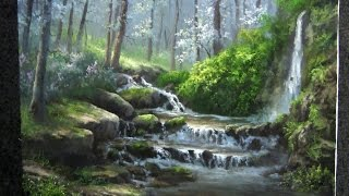 getlinkyoutube.com-Landscape Painting | Misty Forest Creek | Paint with Kevin Hill