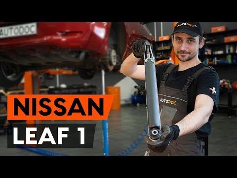 Как заменить амортизаторы задней подвески на NISSAN LEAF 1 (ZE0U) [ВИДЕОУРОК AUTODOC]