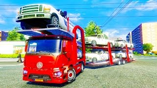 getlinkyoutube.com-Mercedes Antos Car Carrier ETS2 (Euro Truck Simulator 2)