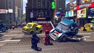getlinkyoutube.com-LEGO Marvel Super Heroes 100% Guide #2 - Times Square Off (All 10 Minikits, Stan Lee in Peril)