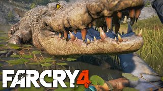 getlinkyoutube.com-FAR CRY 4 - Lutando com crocodilo, ataque de piranhas, voando de asa delta e mais!!!