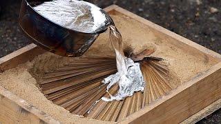 getlinkyoutube.com-литье алюминия в песок  Homemade melted aluminum